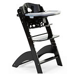Childhome Lambda 3 Baby High Chair + Feeding Tray, Black