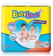Babylove Easy Tape, XL, 64pcs
