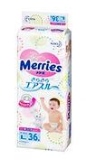 Merries Tape Diaper, L, 36pcs