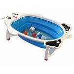 Shears Foldable Baby Bath tub with Toys, Blue