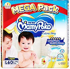 MamyPoko Extra Dry Skin, L, 60pcs