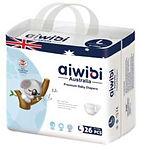 Aiwibi Premium Baby Diapers, L, 26pcs