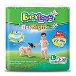 Babylove DayNight Pants Plus, L, 62pcs