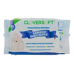 Cloversoft Bamboo Baby Wet Wipes, Pure Water, 20s