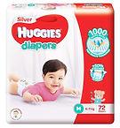 Huggies Silver Diapers, M, 72pcs