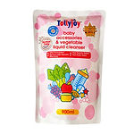 Tollyjoy Antibacterial Baby Accessories & Vegetable Liquid Cleanser Refill, 900ml