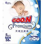 Goo.N Premium Diapers, S, 58pcs