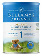 Bellamy's Organic Infant Formula, Stage 1, 900g