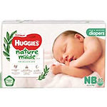 Huggies Platinum Naturemade Diapers, NB, 60pcs