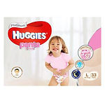 Huggies Platinum Pants (Girls), L, 33pcs