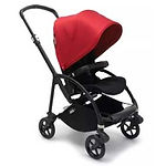 Bugaboo Bee 6 Stroller Complete, Black, Red