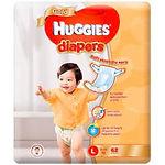 Huggies Gold Diaper, L, 62pcs