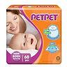 PetPet Tape Diaper, NB, 60pcs