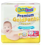 Babylove Premium Gold Pants, S, 70pcs