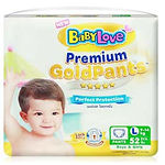 Babylove Premium Gold Pants, L, 52pcs