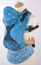 LennyLamb Ergonomic Carrier, Toddler Size, Blue Princess