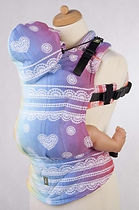 LennyLamb Ergonomic Carrier, Baby Size, Rainbow Lace Carrier