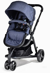 Unilove Touring Pram & Pushchair, Denim Blue