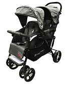 Lucky Baby City Dou Twin Stroller, Black