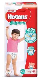 Huggies Silver Diapers, XXL, 40pcs