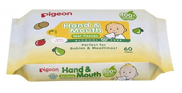 Pigeon Hand & Mouth Wet Tissues, 60s