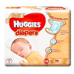 Huggies Gold Diaper, NB, 78pcs