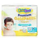 Babylove Premium Gold Pants, M, 64pcs