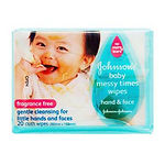 Johnson's Baby Messy Times Wipes, 20s