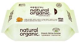 Natural Organic Original Plain Baby Wipes, Refill, 100s