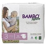 Bambo Nature Baby Diapers, M, 33pcs