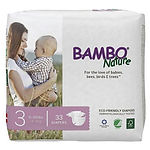 Bambo Nature Baby Diapers, M, 33pcs