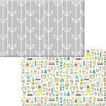 Dwinguler Playmat, Sea Petals Grey, L13