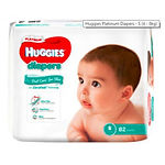 Huggies Platinum Diapers, S, 82pcs