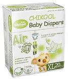 Chikool Air Baby Diapers, XL, 20pcs