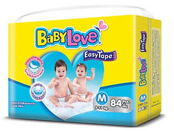 Babylove Easy Tape, M, 84pcs