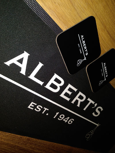 Branding and logo of Albert's bar