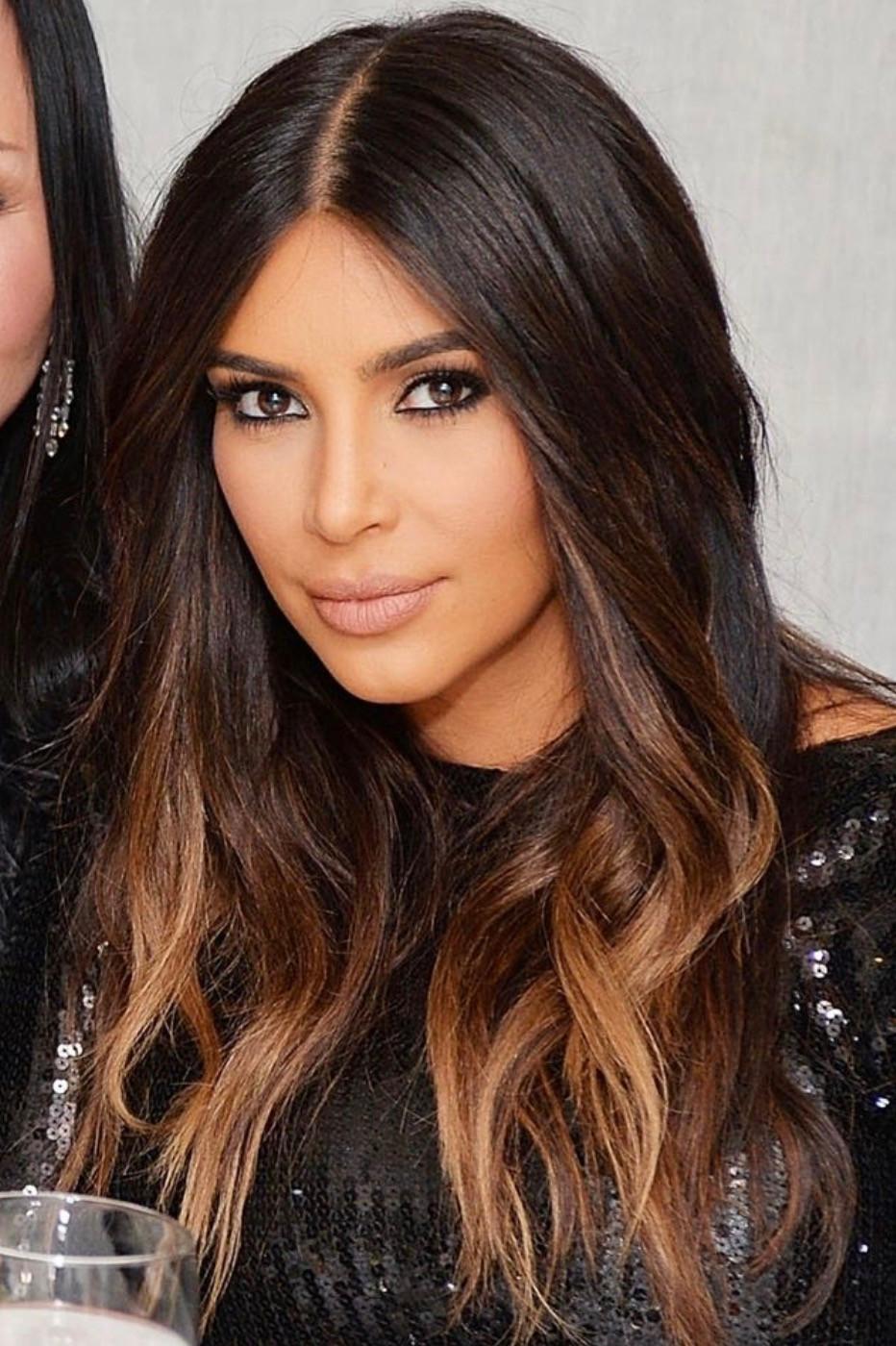 Kim Kardashian - Honey Red Toned Balayage