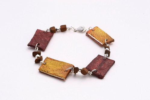 Maroon & Mustard Bracelet