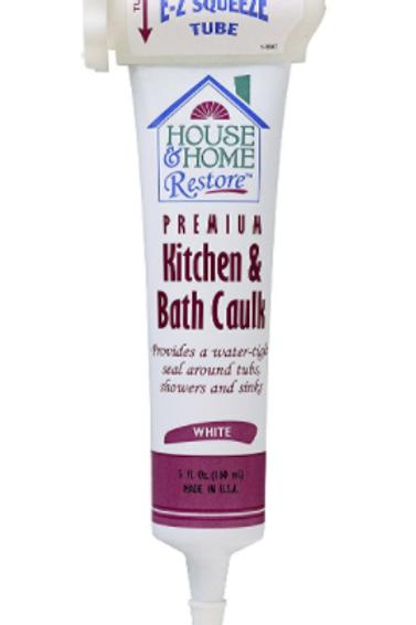 Red Devil 0838 EZ SQUEEZE Kitchen & Bath Caulk, White, 5-Ounce