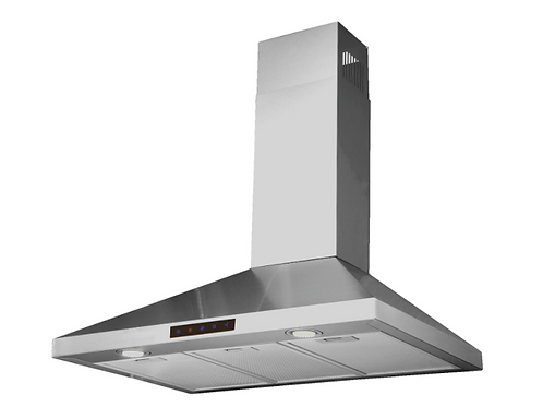 LED Stainless Steel Wall-Mounted Kitchen Range Hood with High-End LED Lights, 30