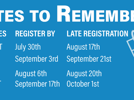 Register for SAT and ACT dates NOW