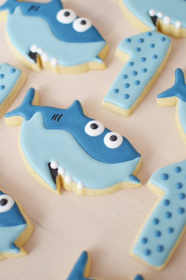 Baby Shark Birthday Cookies