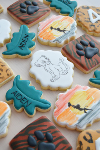 Lion King Birthday Cookies