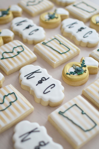 Floral Wedding Cookies