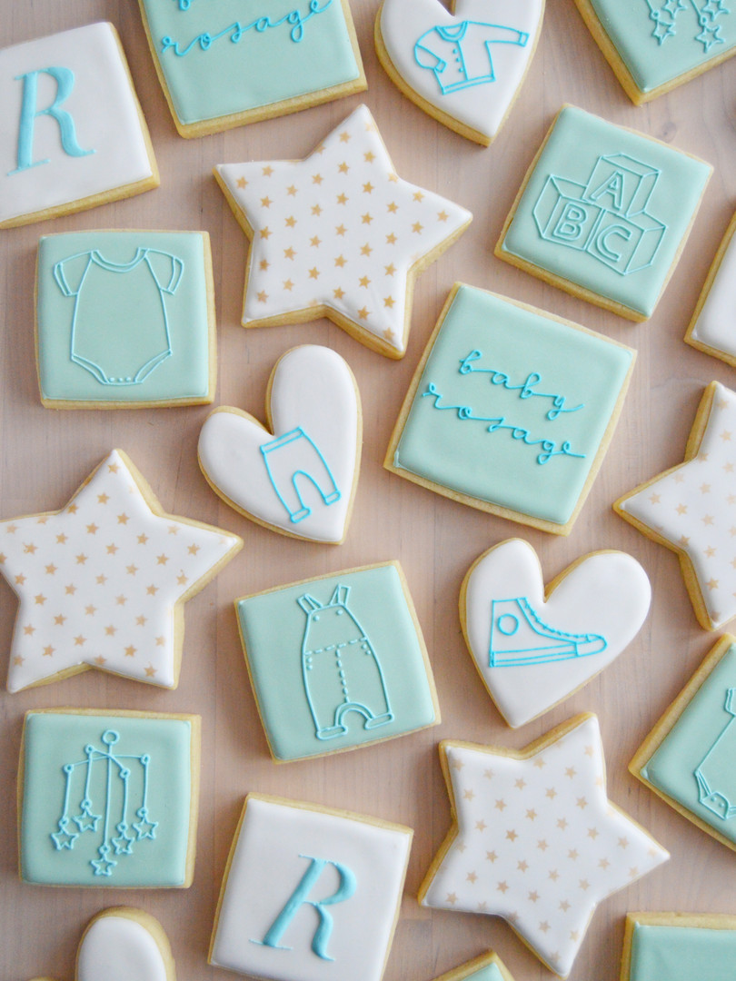 Blue Baby Shower Cookie