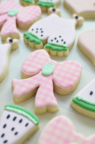 Watermelon Baby Shower Cookies