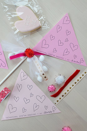 Printable Valentine's Day Pennant