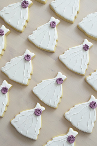 Gown Bridal Shower Cookies