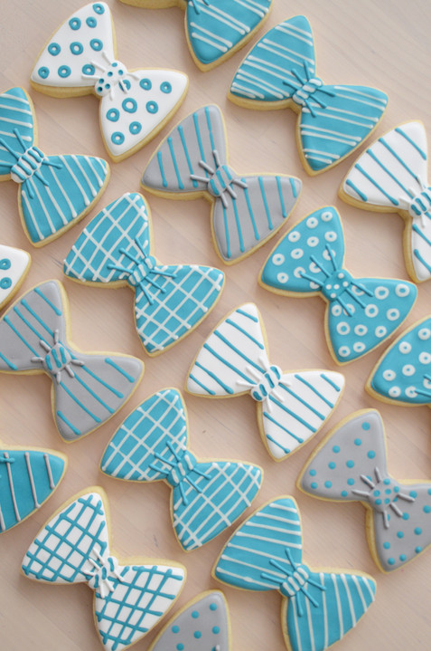 Bowtie Baby Shower Cookies