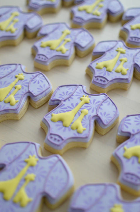 Giraffe Baby Shower Cookies